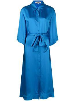 Dvf Diane Von Furstenberg атласное платье-рубашка Tanza DVFDL4O020