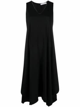 Fabiana Filippi платье миди с V-образным вырезом ABD271W1600000D280