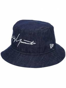 Yohji Yamamoto джинсовая панама с логотипом HHH57060