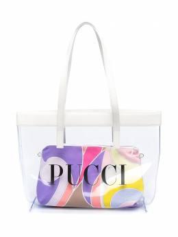 Emilio Pucci Junior прозрачная сумка-тоут с логотипом ZO0178ZX270G