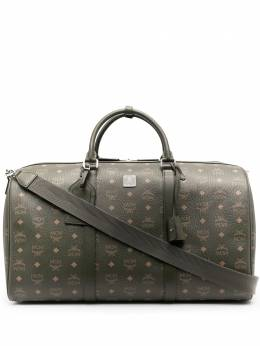 MCM дорожная сумка Traveler с монограммой MMVAAVY02