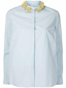 Delpozo рубашка с декорированным воротником-стойкой 4202515003