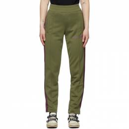 Palm Angels Green College Slim Track Pants PMCA023R21FAB0015637