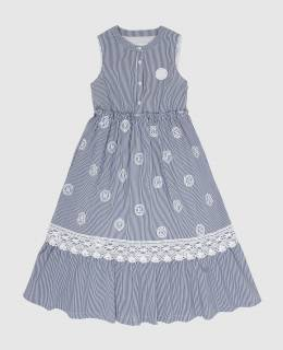 Детское темно-синее платье Ermanno Scervino 2300006520358