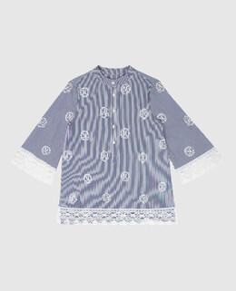 Детская темно-синяя блуза Ermanno Scervino 2300006520471