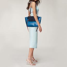 Celine Tri Color Leather Mini Belt Top Handle Bag 371625