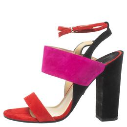 Paul Andrew Tricolor Suede Xiamen Ankle Strap Sandals Size 37 372523