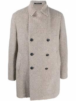 Tagliatore двубортное пальто из шерпы CSTEPHAN34UIC293