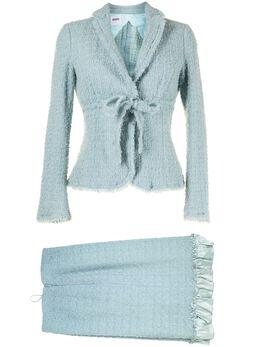 Moschino Pre-Owned твидовый костюм с юбкой WWU1407N