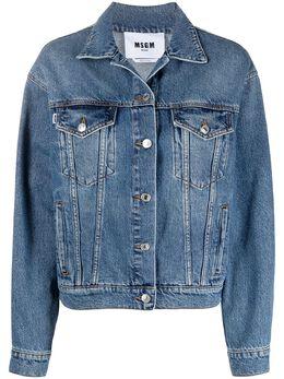 MSGM джинсовая куртка с логотипом 3041MDH41LX217283