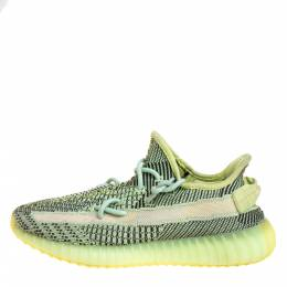 Yeezy x Adidas Green Knit Fabric Boost 350 V2 Yeezreel (Non-Reflective) Sneakers Size 40 2/3 373426