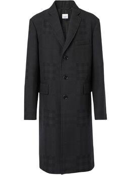 Burberry однобортное пальто в клетку 8036864