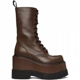 R13 Brown Medium Platform Boots R13S0226-215