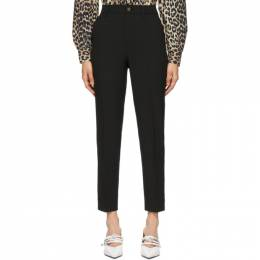Ganni Black Heavy Crepe Straight Trousers F5682