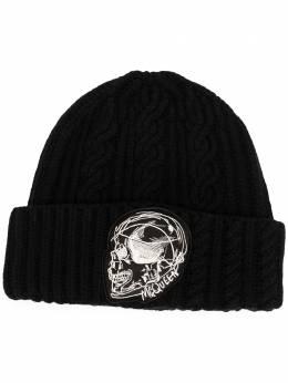 Alexander McQueen шапка бини с вышивкой Skull 6323374814Q