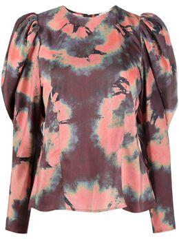 Ulla Johnson блузка с принтом тай-дай и пышными рукавами PS210209
