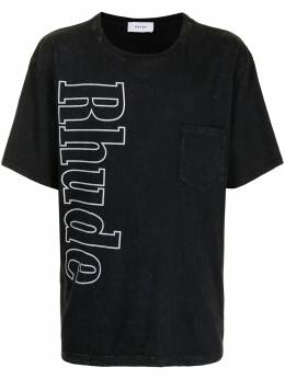 Rhude футболка с карманом и логотипом RHFW20TT000000240015