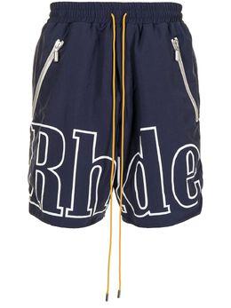 Rhude шорты с кулиской и логотипом RHFW20SH000000030043