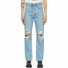 Agolde Blue 90s Mid-Rise Loose-Fit Jeans A069C-811