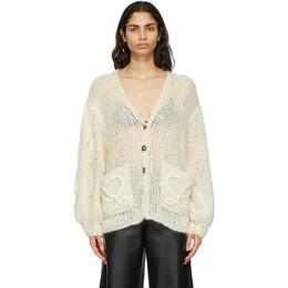 Loewe Off-White Mohair Anagram Sweater S817Y16K11