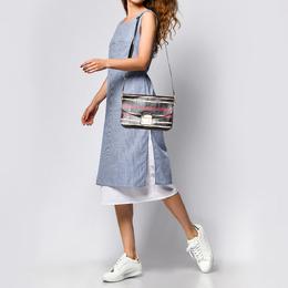 Furla Multicolor Python and Leather Metropolis Shoulder Bag 373007