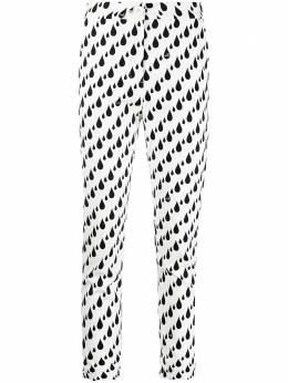 Love Moschino брюки строгого кроя с принтом WPA4500S3505