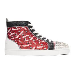 Christian Louboutin Multicolor Ginzana Lou Spikes Orlato High-Top Sneakers 1210330