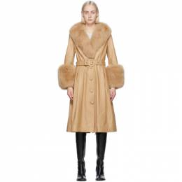 Saks Potts Beige Fur Foxy Coat 17050