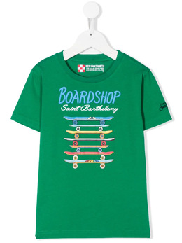 Mc2 Saint Barth Kids футболка Board Shop с круглым вырезом TSH0001