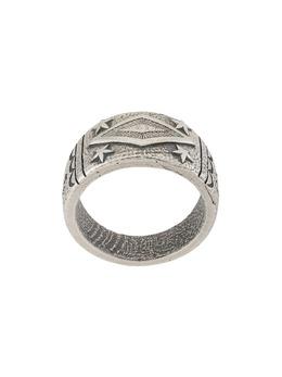 Nialaya Jewelry серебряное кольцо с гравировкой MRING104