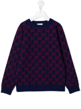 Gucci Kids джемпер вязки интарсия с логотипом 615384XKBD7