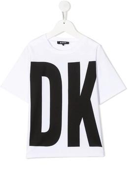 DKNY Kids футболка с логотипом D35Q84