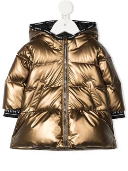 Givenchy Kids пуховик с эффектом металлик H06042