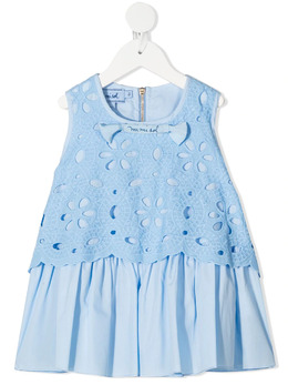 Mi Mi Sol блузка из цветочного кружева MFTP006TS0201