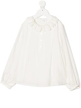 Chloe Kids блузка с оборками на воротнике C15B41117