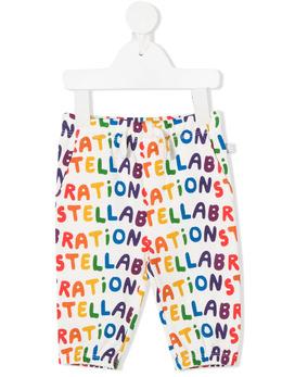 Stella McCartney Kids спортивные брюки с принтом Stellabration 601044SPJ61