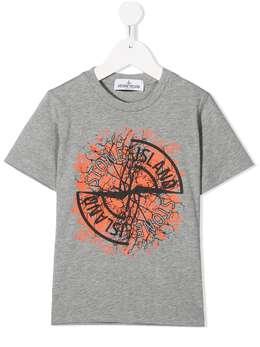 Stone Island Junior футболка с логотипом 731621057
