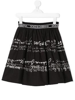 Dolce & Gabbana Kids юбка с логотипом L53I31G7XBY