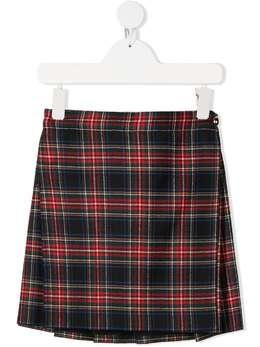 Dolce & Gabbana Kids юбка мини в клетку L53I79FQCA2