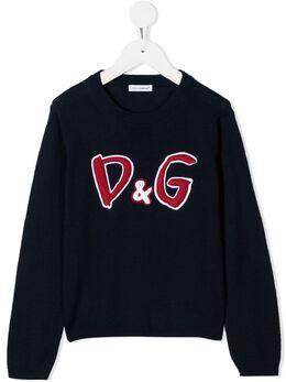 Dolce & Gabbana Kids джемпер с вышивкой D&G L5KWB4JAVZV