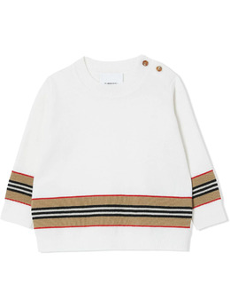 Burberry Kids джемпер в полоску Icon Stripe 8033059