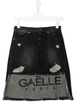 Gaelle Paris Kids джинсовая юбка с асимметричным подолом 2741GD0231