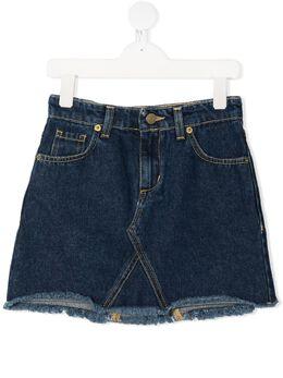 Chiara Ferragni Kids джинсовая юбка с аппликацией CFKST005DEN