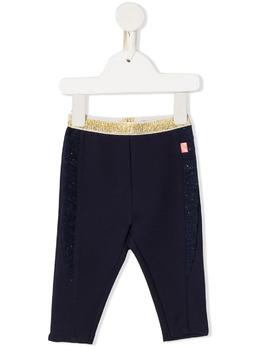 Billieblush спортивные брюки с эффектом металлик U0421385T