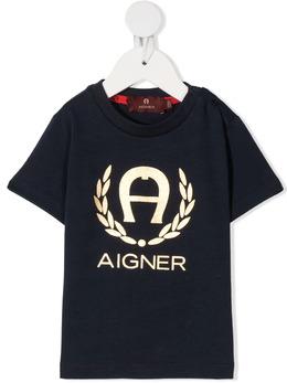 Aigner Kids футболка с логотипом 55101