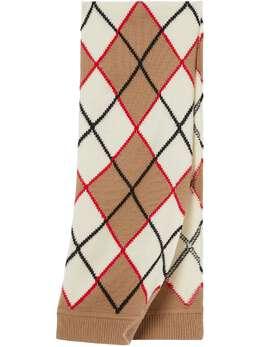 Burberry Kids шарф с узором аргайл вязки интарсия 8036610