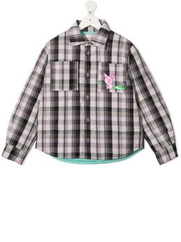 Natasha Zinko Kids клетчатая куртка-рубашка FW20MNZ2011501I