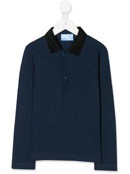 Lanvin Enfant рубашка-поло с контрастным воротником 4L8110LD920