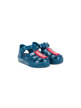 Dolce & Gabbana Kids сандалии с нашивкой-логотипом DN0115AK498