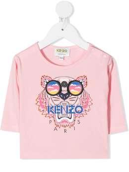 Kenzo Kids футболка с вышивкой Tiger KR10198BB
